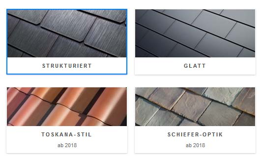 Das Tesla Solar Roof, dass Solardach kann auch schon in Deutschland reserviert werden. Bildquelle: Tesla.com