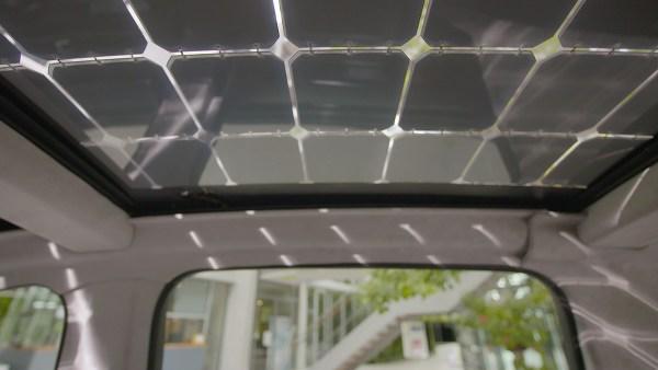 So sieht das Solardach des Elektroauto Sono Motors Sion von innen aus. Bildquelle: Sono Motors