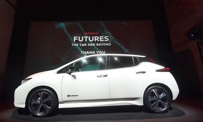 """In Oslo stellte Nissan im Rahmen der """"Nissan Futures 3"""" sein Programm für die Zukunft vor, so soll ein elektrisches Ökosystem entstehen. Hier sieht man das Elektroauto Nissan Leaf. Bildquelle: Nissan"""