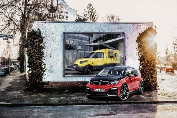 BMW i Batterien auch für den Streetscooter der Deutschen Post (Foto-Montage). Bildquelle: BMW
