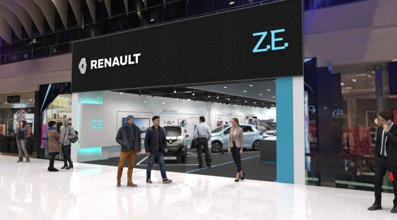 Concept Store für Elektroautos von Renault in Stockholm. Bildquelle: Renault