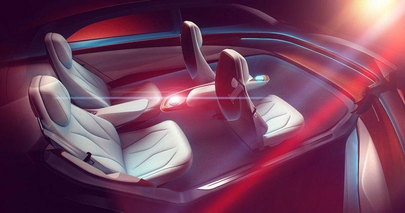 Das Interieur des Elektroauto VW I.D. Vizzion. Bildquelle: Volkswagen AG