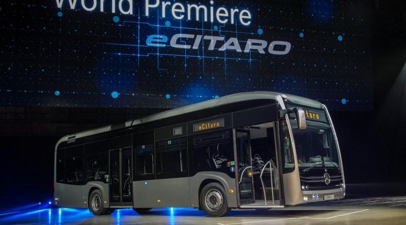 Der Elektrobus Mercedes-Benz e-Citaro verfügt über eine Brennstoffzelle. Bildquelle: Daimler AG