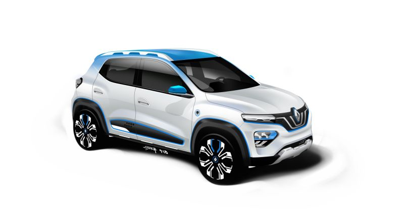 Elektroauto Renault K-ZE, hierbei handelt es sich um ein rein elektrisch angetriebenes SUV. Bildquelle: Renault