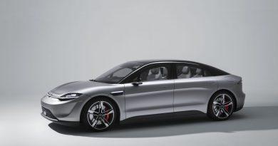 Auf der CES 2020 in Las Vegas stellt Sony sein Elektroauto Vision-S vor