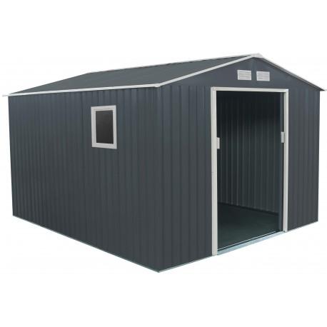 gartenhaus aus metall 8 84m plus anthrazit verankerungskit von x metal