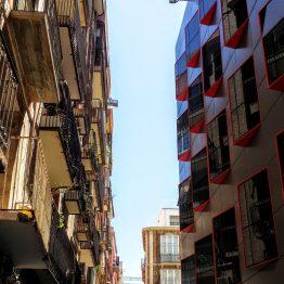 Häuserschluchten in Cartagena