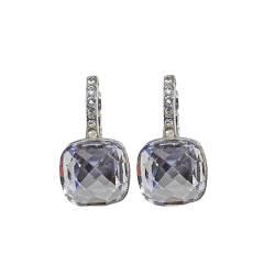 Ohrring Brisur silber mit Dekor cristall