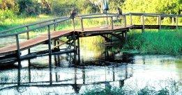 Bewachte Brücke