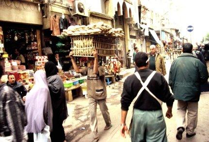 Einkaufssstrasse in Kairo