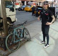 Fahrradkurier 100 Meilen am Tag