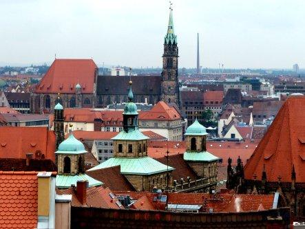 Blick auf die Altstadt von der Burg aus