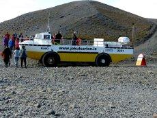 Unser Autoboot für den Gletschersee - Island