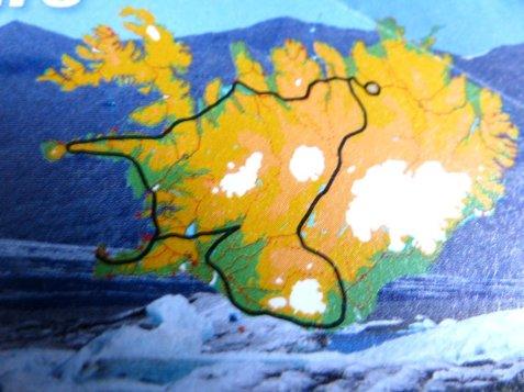 Unsere Reiseroute auf Island