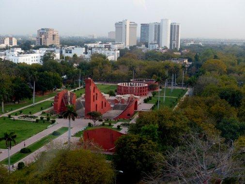 Blick auf Neu Delhi