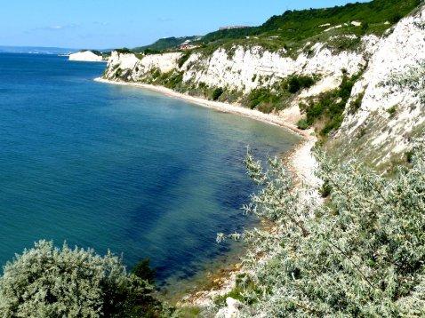 Blick auf Steilküste
