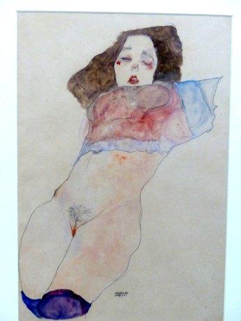 Egon Schiele, Mädchen mit entblösstem Unterleib