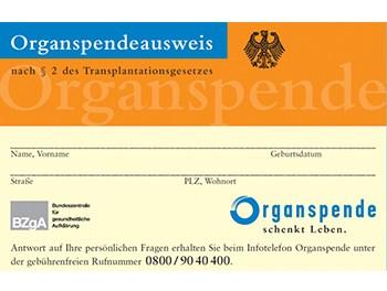 Organspendeausweis – … in Deutschland