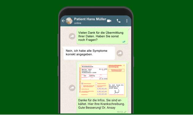 Krankenschein per WhatsApp