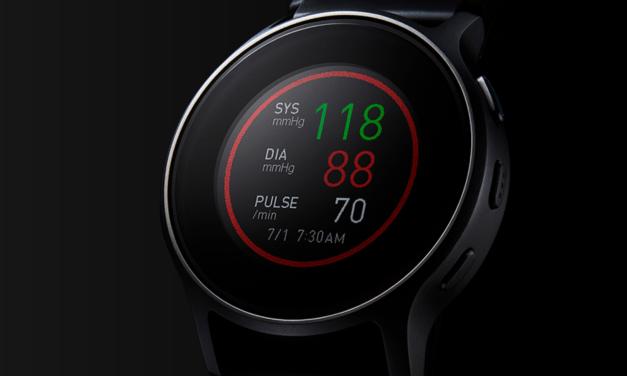 Omron Smartwatch mit Blutdruckmessung