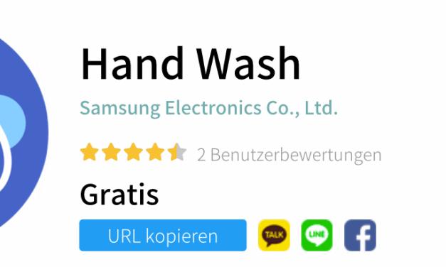 Selbst für das Händewaschen gibt es eine App