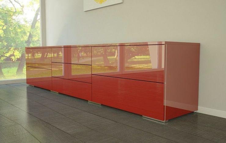 Kommode Rot Hochglanz 2021
