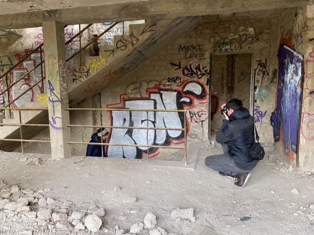 Fotoshooting in verlassenem Gebäude