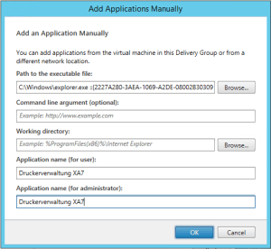 Application manuell preferences