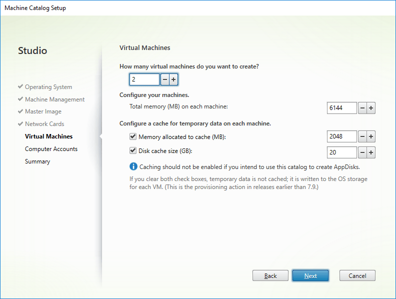 Configure a cache for temporary data on each machine.
