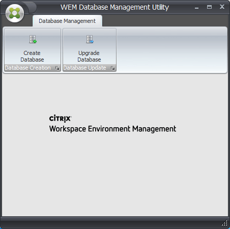 WEM Database Management Utility