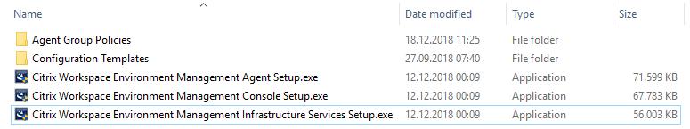 WEM setup files