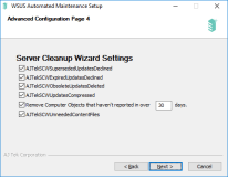 Server Cleanup Wizard Settings