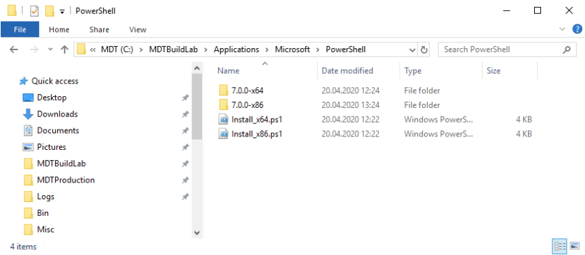 C:\MDTBuildLab\Applications\Microsoft\PowerShell