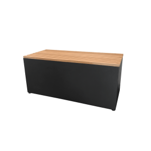 Garden Bench Black Teak Wood