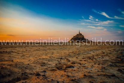 Le Mont Saint Michel auf Leinwand, Alu Dibond, Acryl
