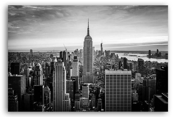 New York Bilder auf Leinwand schwarzweiß