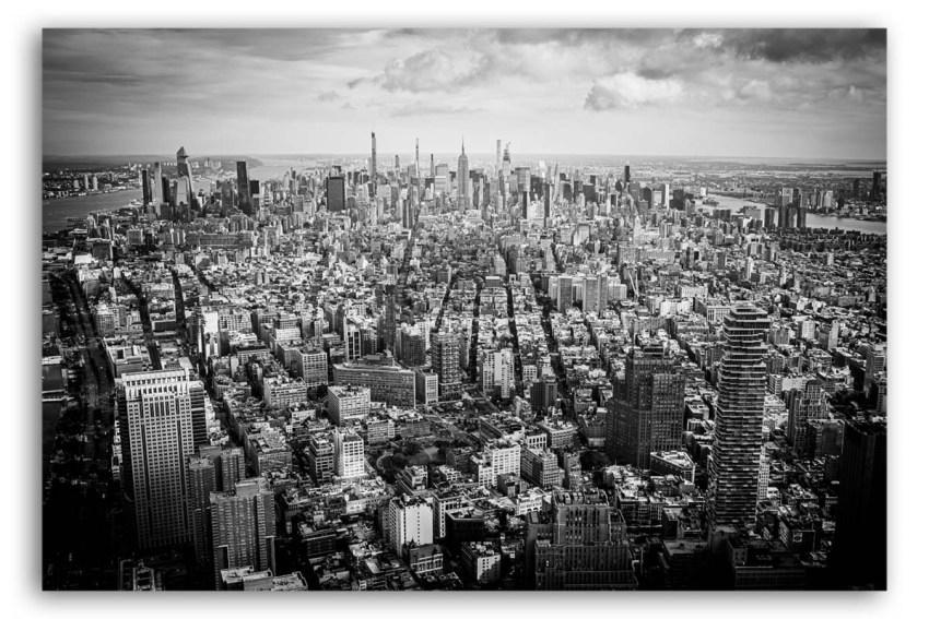 Manhattan New York Foto auf Leinwand schwarzweiß