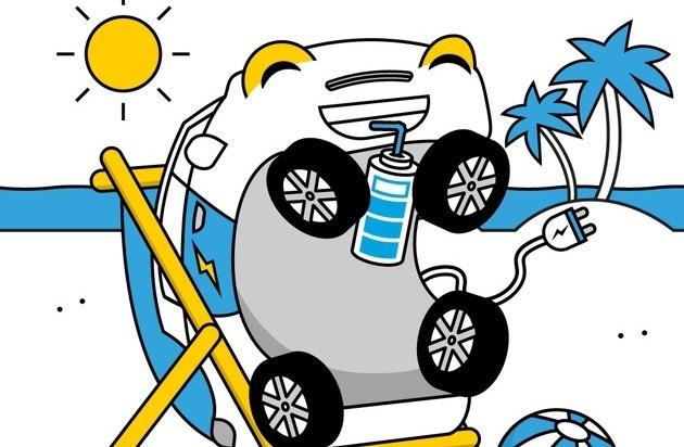 Auch ein Elektroauto braucht Urlaub