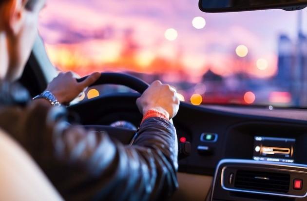Fahrer am Steuer