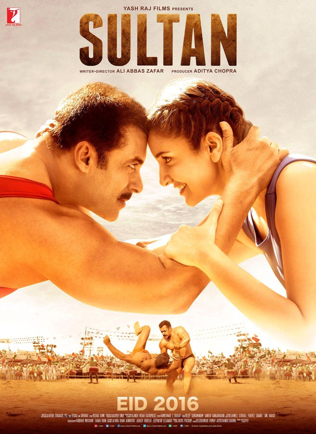 Sultan Movie Poster Salman Khan And Anushka Sharma