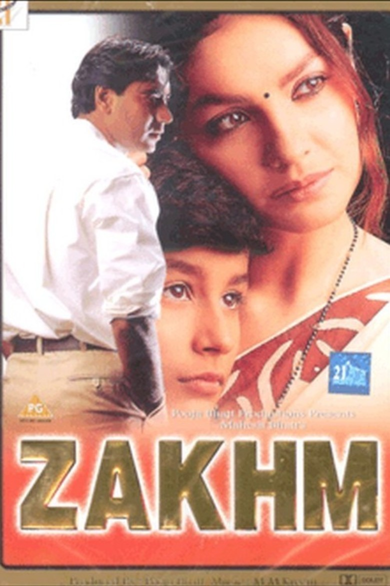 Zakhm Movie Poster Ajay Devgan