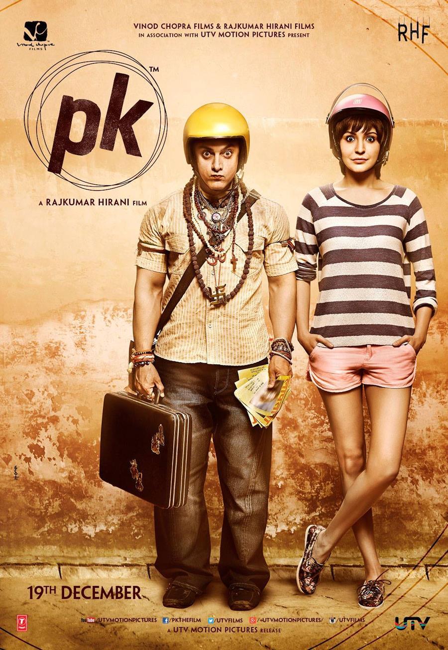 PK Movie Poster Aamir Khan Anushka Sharma