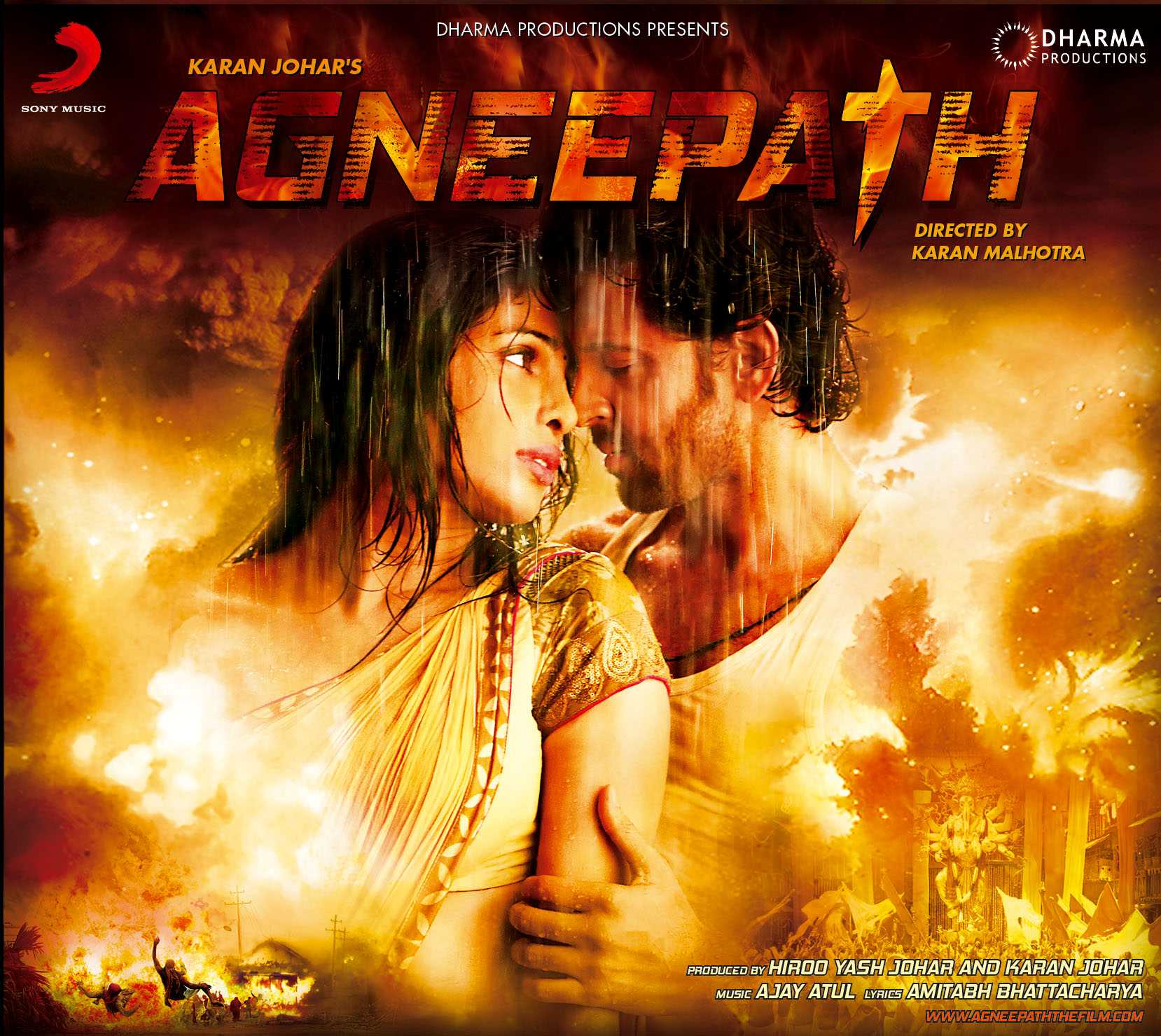 Agneepath Movie Poster - Hrithik Roshan, Priyanka Chopra - HD Wallpaper