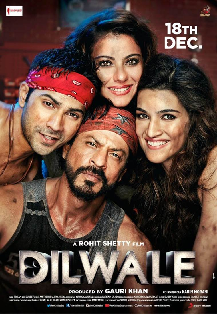 Dilwale Movie Poster - Shahrukh Khan, Kajol, Varun Dhawan, Kriti Sanon - HD Wallpaper
