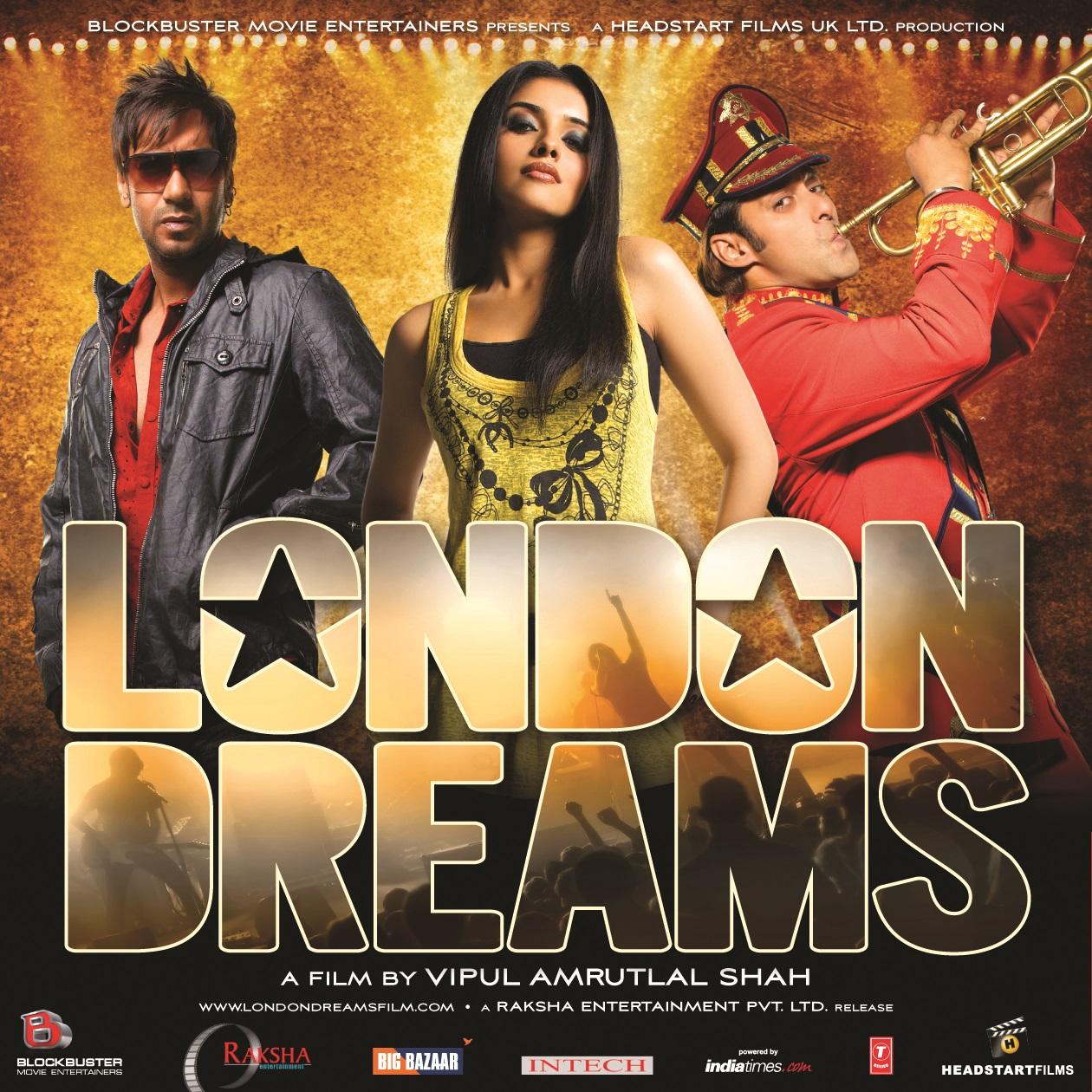 London Dreams Movie Poster - Ajay Devgan, Salman Khan And Asin - Full HD Desktop Wallpaper