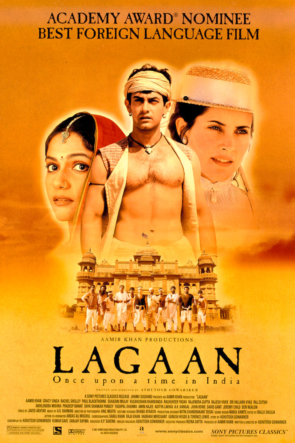 Lagaan Movie Poster HD By Aamir Khan and Gracy Singh
