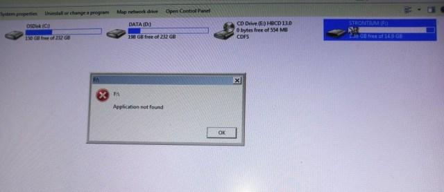 Fix Application Not Found Error In Windows 10