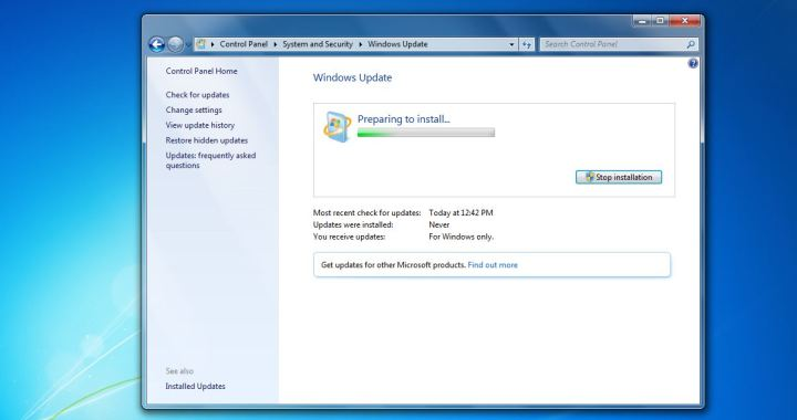 How To Install Updates In Windows 7 - Preparing To Install