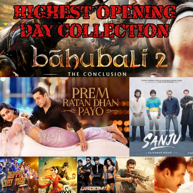 List of Top 10 Highest Opening Day Collection Bollywood Movie