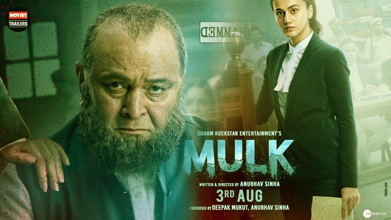 Mulk Movie Dialogues Poster - Rishi Kapoor, Taapsee Pannu